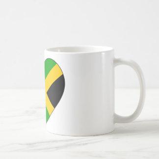 Jamaica Flag Heart Coffee Mug