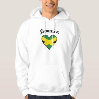 Jamaica Flag Heart Hoodie