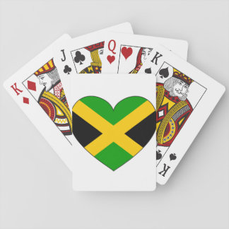 Jamaica Flag Heart Playing Cards