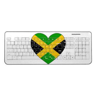 Jamaica Flag Heart Wireless Keyboard
