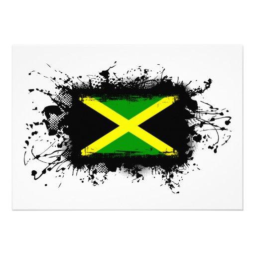 Jamaica Flag Custom Invite