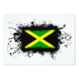 """Jamaica Flag 5"""" X 7"""" Invitation Card"""
