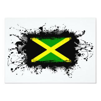 Jamaica Flag 13 Cm X 18 Cm Invitation Card