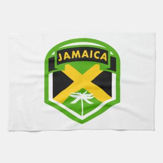 Jamaica Flag Logo Style Tea Towel