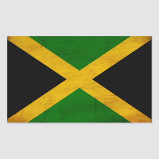 Jamaica Flag Rectangle Stickers