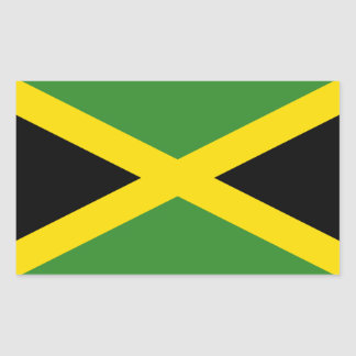 Jamaica Flag Rectangular Sticker