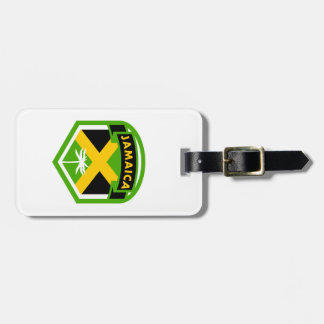 Jamaica Flag Shield Style Luggage Tag
