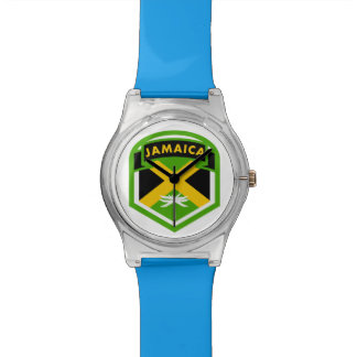 Jamaica Flag Shield Style Watch