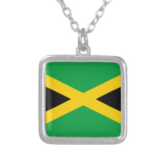 Jamaica Flag Silver Plated Necklace