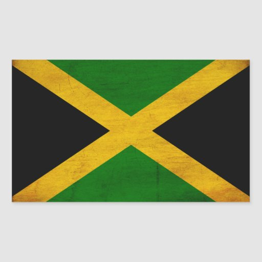 Jamaica Flag Rectangle Stickers