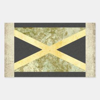 Jamaica  Flag Stickers Rectangle
