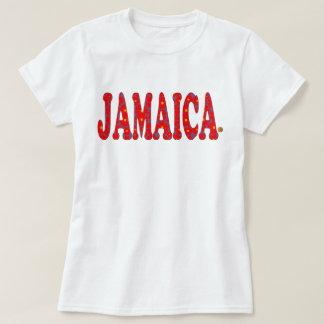 Jamaica Floral Red Blossoms Jamaica T-Shirt