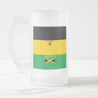 Jamaica Frosted Glass Frosted Glass Beer Mug