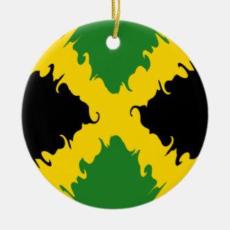 Jamaica Gnarly Flag Ceramic Ornament