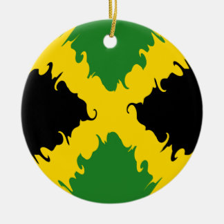 Jamaica Gnarly Flag Christmas Tree Ornament