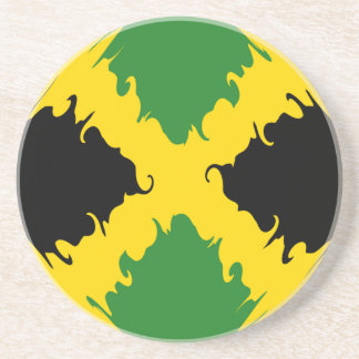 Jamaica Gnarly Flag Coasters