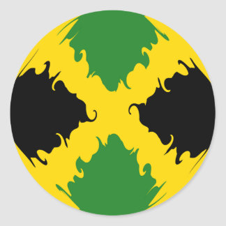 Jamaica Gnarly Flag Round Stickers