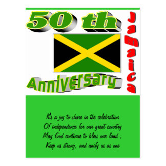 Jamaica independence postcard