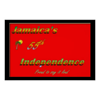 Jamaica Independence Poster - Red