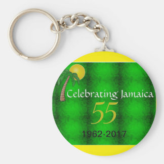 Jamaica Independence Round Button Key Ring