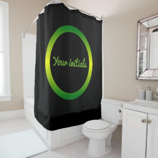 Jamaica Inspired Gradient Circle Shower Curtain