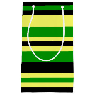 Jamaica Inspired Stripes Small Gift Bag