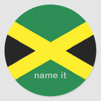 Jamaica jamaican flag sticker
