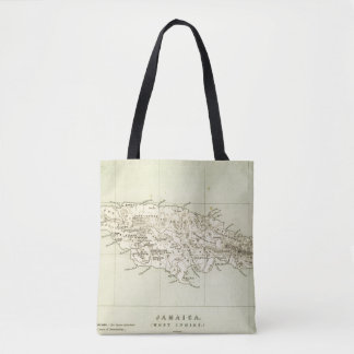 Jamaica Lithographed Map Tote Bag