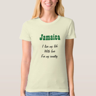Jamaica-love for my country t-shirts