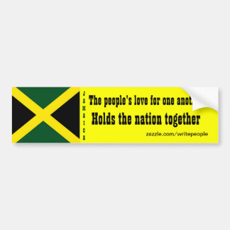 Jamaica love for one another bumper stickers