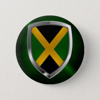 Jamaica Metallic Emblem 6 Cm Round Badge
