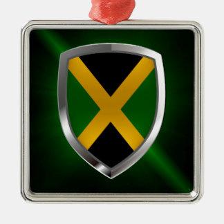 Jamaica Metallic Emblem Metal Ornament