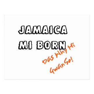 JAMAICA MI BORN POSTCARD