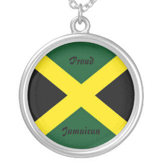 Jamaica necklace-proud jamaican silver plated necklace