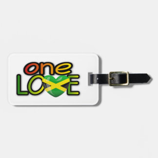 "Jamaica ""one love"" luggage tag"