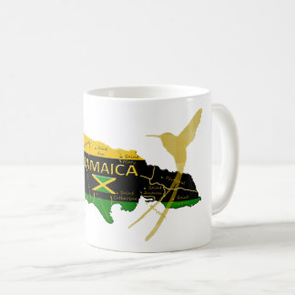 Jamaica Parishes Colors Gold Humming Bird Mug