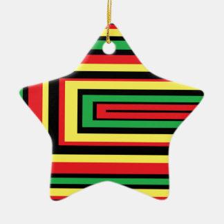 JAMAICA rasta roots colors Ceramic Ornament