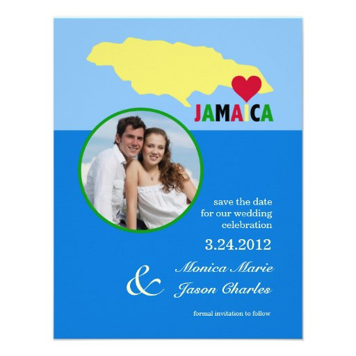 Jamaica Save the Date Photo Announcement
