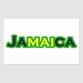 Jamaica (text) rectangular sticker