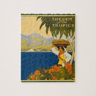 Jamaica The Gem Of The Tropics Vintage Travel Jigsaw Puzzle
