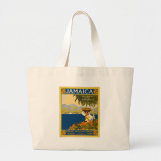 Jamaica The Gem Of The Tropics Vintage Travel Large Tote Bag
