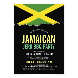 Jamaica Themed Cuisine | Party Flag Invite