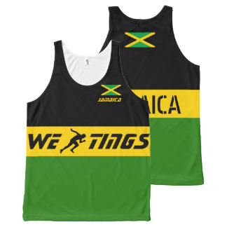 Jamaica we run tings All-Over print singlet
