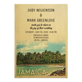 Jamaica Wedding Invitation Vintage Mid-Century