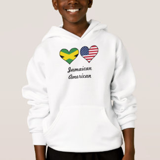 Jamaican American Flag Hearts