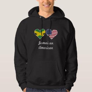 Jamaican American Flag Hearts Hoodie