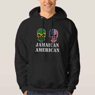 Jamaican American Flag Skulls Hoodie
