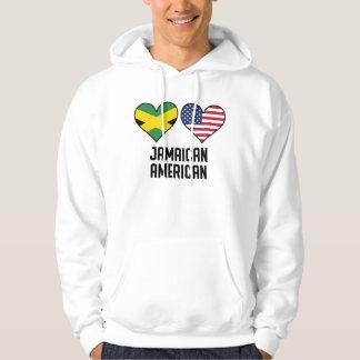 Jamaican American Heart Flags Hoodie