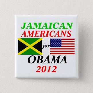 Jamaican americans for Obama 15 Cm Square Badge