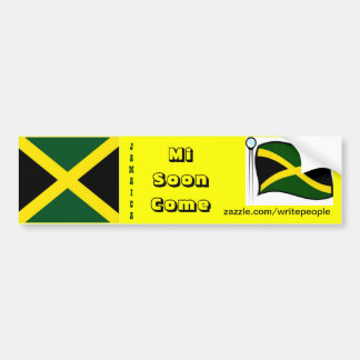 Jamaican  bumper stickers-mi soon come bumper sticker